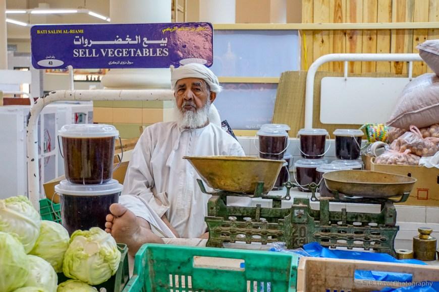 vegetable seller at nizwa market