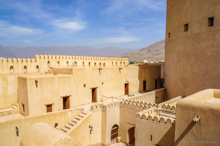 view of castle at nizwa fort