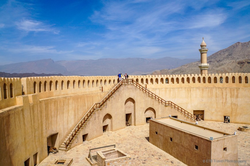 circular tower at nizwa fort