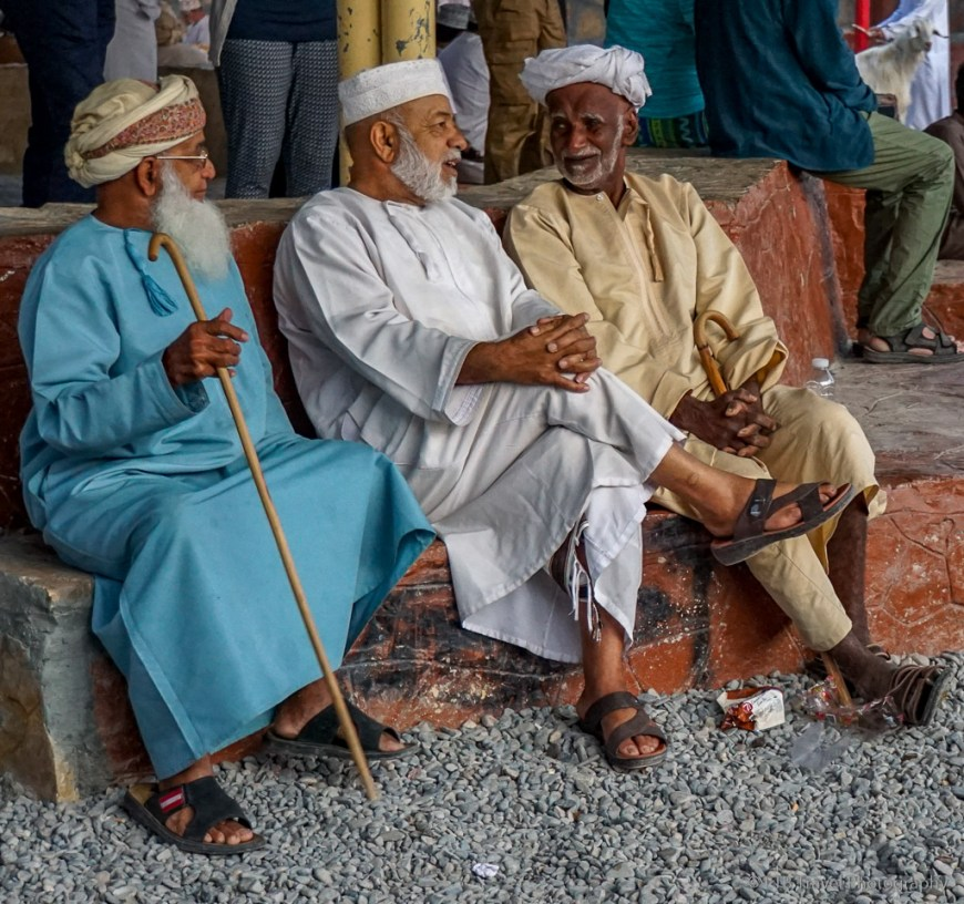 goat buyers at nizwa market