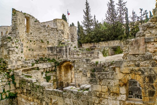 Ruins of a Roman Temple at St. Anne's Church in Jerusalem