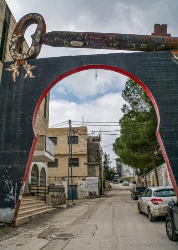 Aida, a Palestinian Refugee Camp in Bethlehem