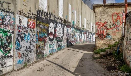 The Israeli West Bank barrier wall in Bethlehem