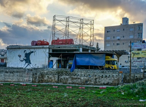 famous Banksy street art in Bethlehem
