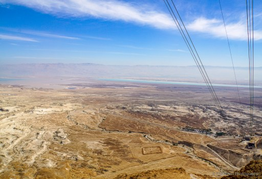 View of the Dead Sea from Masada National Park