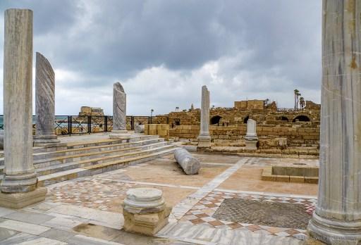 The baths at Caesarea on the Mediterranean Coast