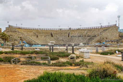 the theatre at Caesarea on the Mediterranean Coast