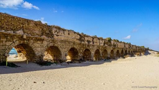 the Aquaduct at Caesarea on the Mediterranean Coast
