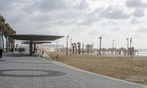 The beachfront and promenade in Tel Aviv