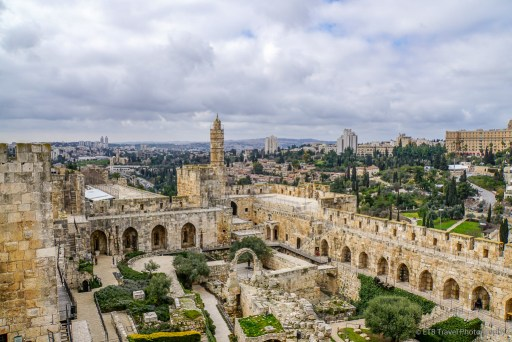 view from the Tower of David in Jerusalem