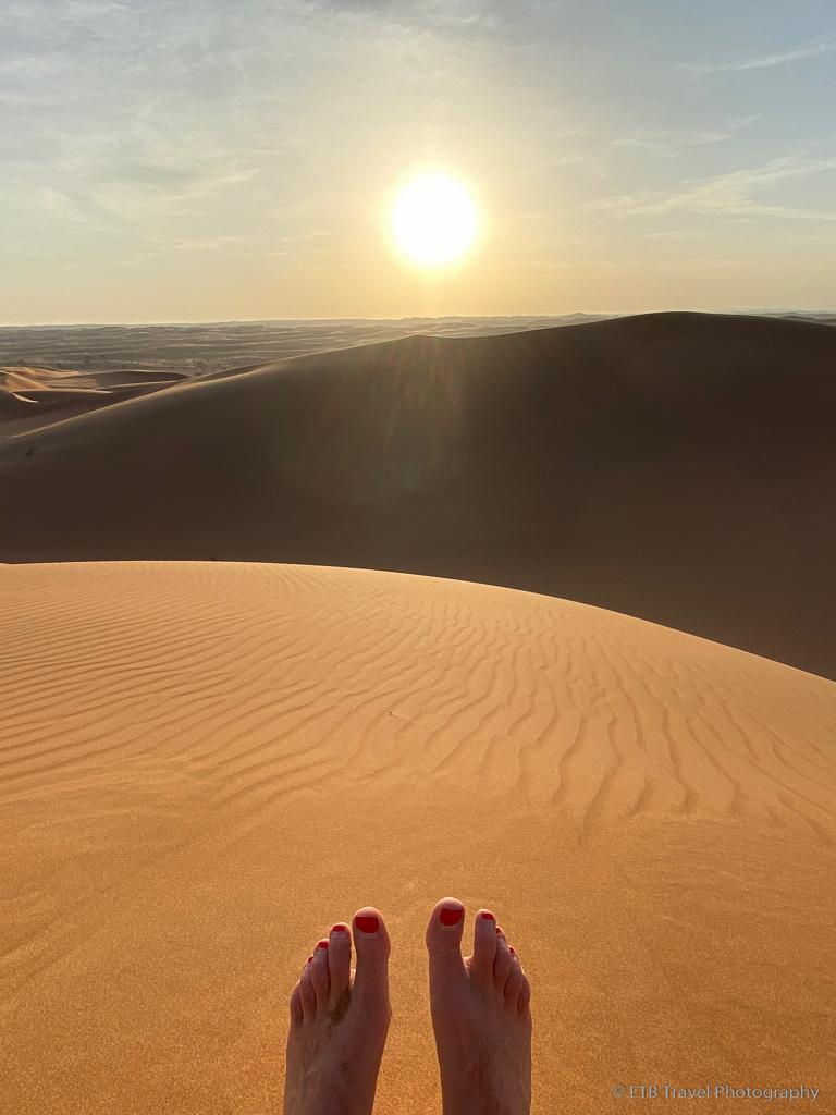 toes in Sharqiya Sands