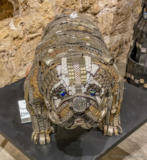 dog made of watches