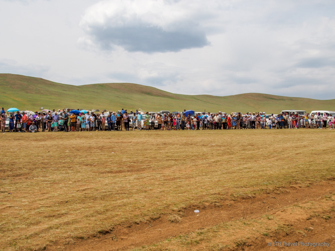 spectators at naadam horse race