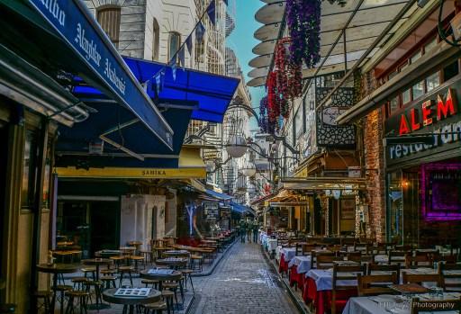 side street by istiklala caddesi in Beyoĝlu, Istanbul
