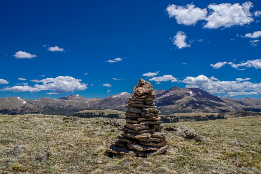 cairn on South Park Trail