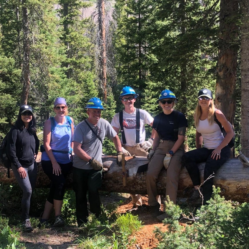 the forest service crew on Lake Katherine Trail