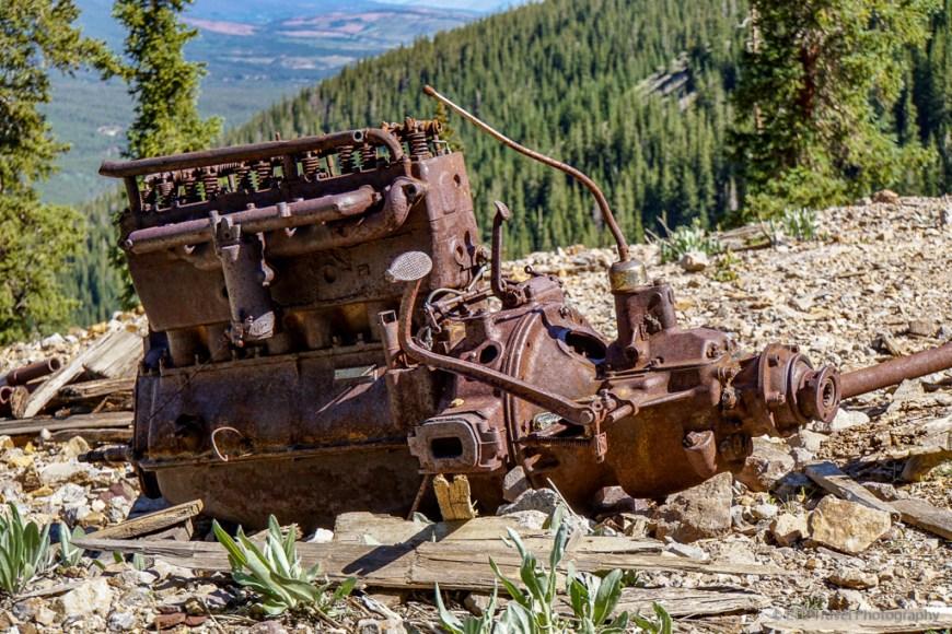 old engine at Fredonia mine