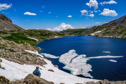 view of blue lake