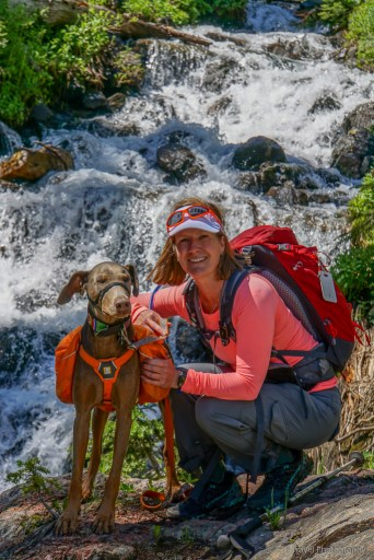 me and annie on Lake Katherine Trail