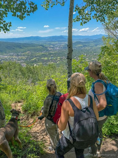 looking down on steamboat from Thunderhead Trail