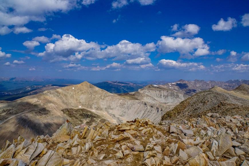 the summit of Mt. Sherman