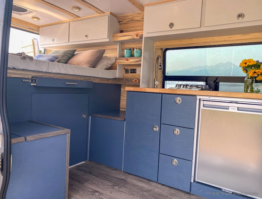 inside Wanderful Wheels camper van
