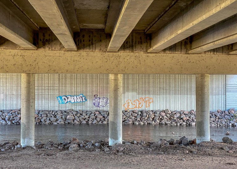 6th hwy underpass on the platte river trail