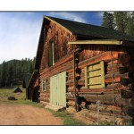 photographic note card, barn in colorado