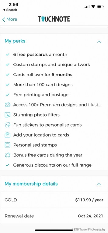Touchnote postcard apps membership