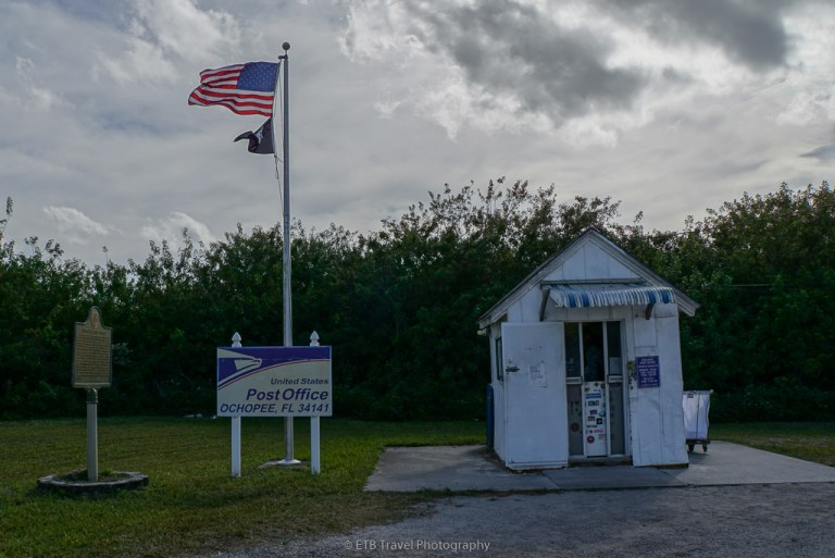 The smallest post office in the USA on the Tamiami Trail