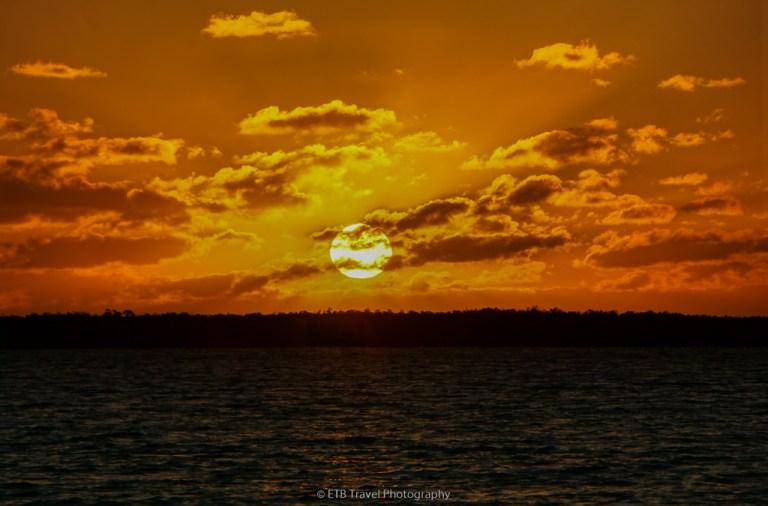 sunset at Gulf Coast Visitor Center