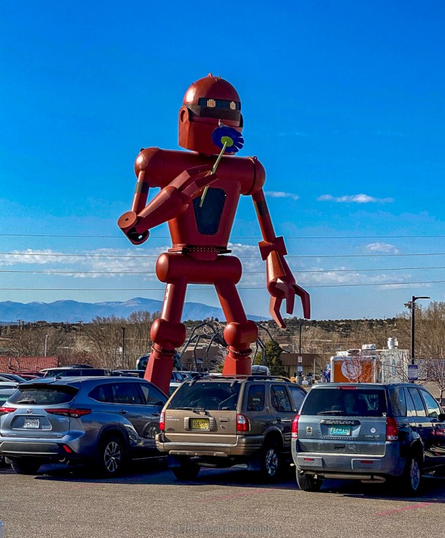 30 foot robot at meow wolf in new mexico