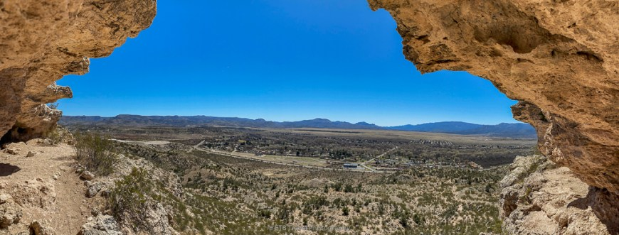 view from the cliff dwellings on the at McDonald Trail