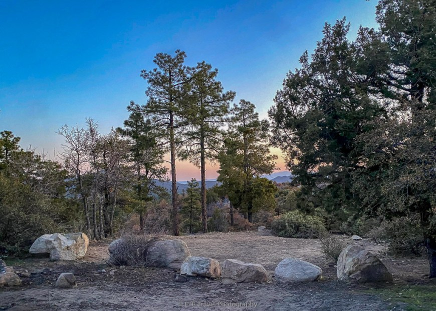 sunrise from my campsite on Thumb Butte Road