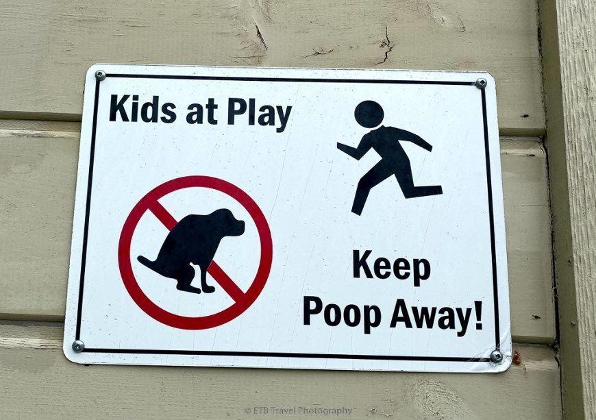 poop away sign