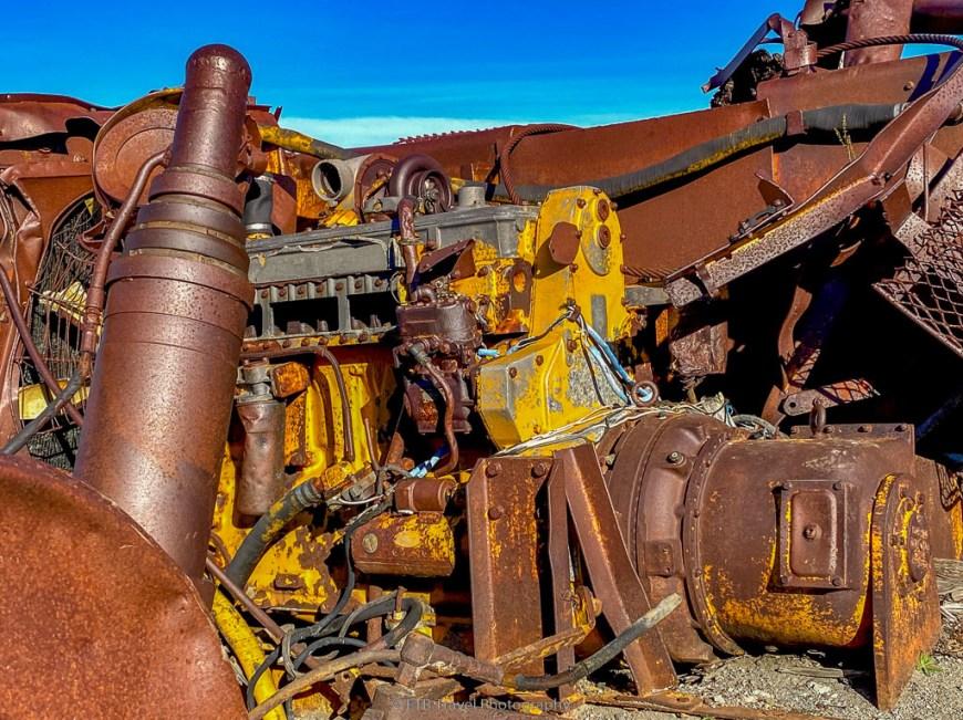 machinery mangled by mount st. helens blast