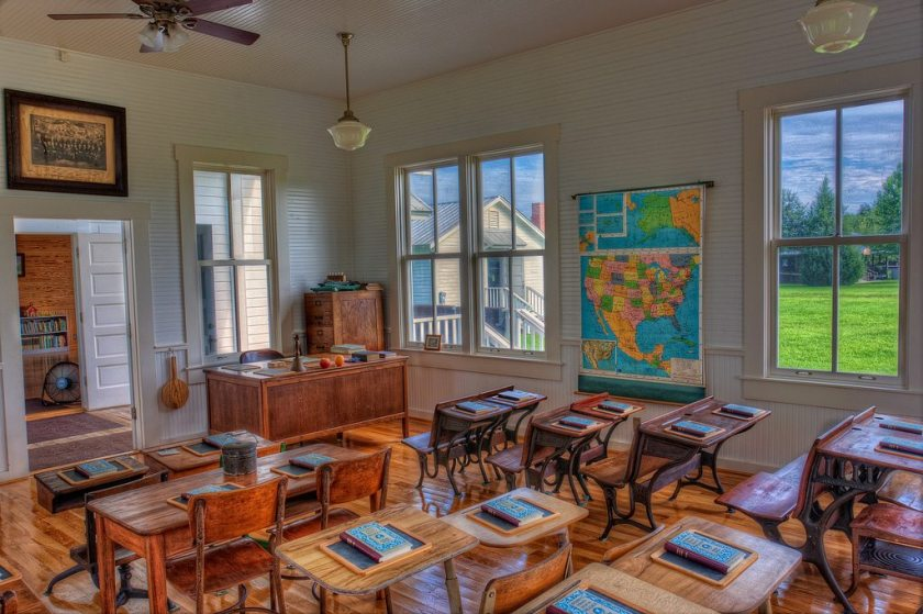 Teaching has come a long way since the time of such classrooms. How are you making your class more engaging? Photo by Matthew Paulson / Flickr.