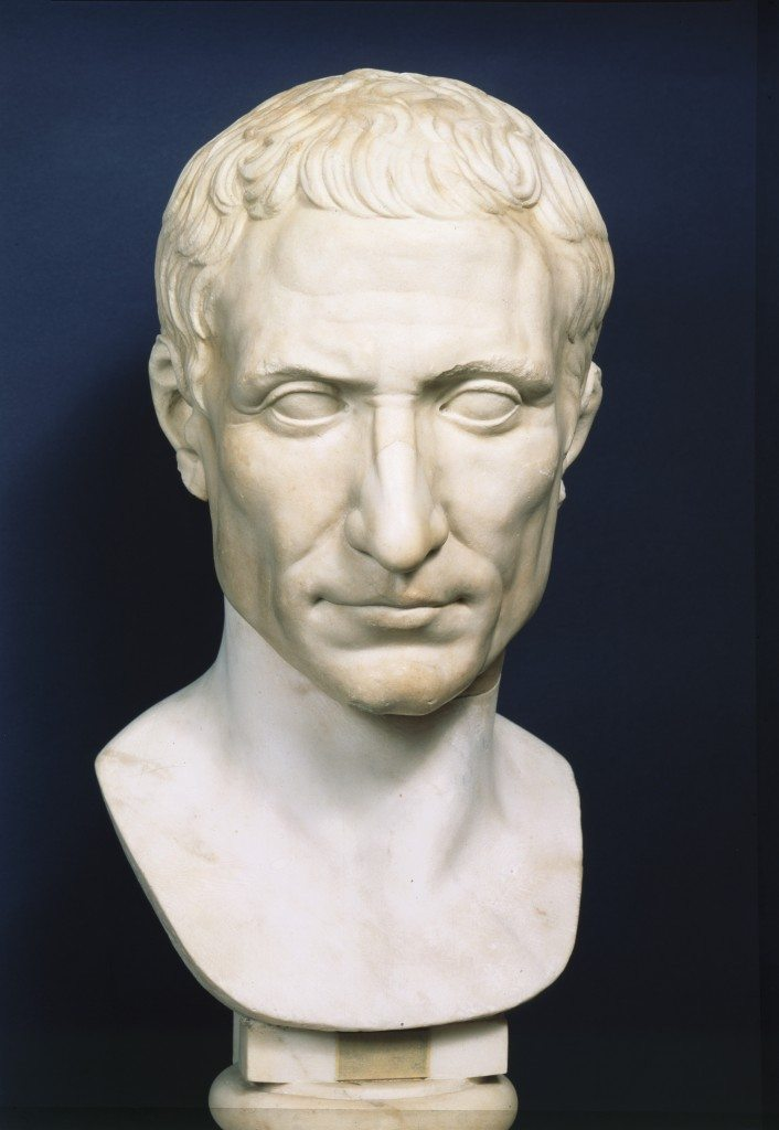 Bust of Julius Caesar. (Courtesy of Simon & Schuster.)