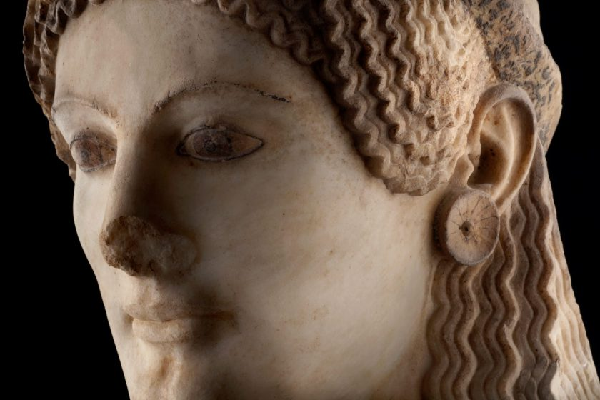 Detail of the Peplos Kore.