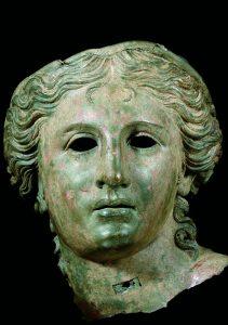 Head of Aphrodite (?). First century BCE bronze 37x 30.5 x 29 cm. London, The British Museum.
