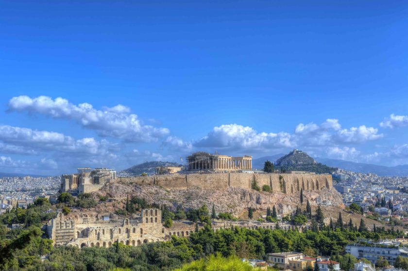 View of the Acropolis, Athens.