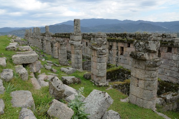 The ruins of the Hellenistic three-storey Agora of Alinda.