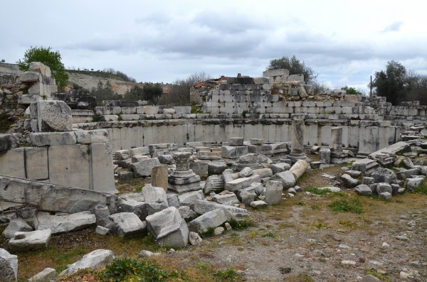 The ruins of the Ephebeion (where the Ephebes would receive instruction on Greek culture) of the impressive Gymnasium, built in the second quarter of the 2nd century BC to the west end of the city.
