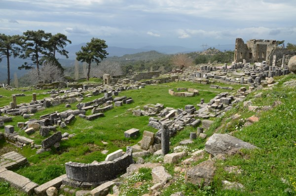 View of the Temple Terrace of the Sanctuary of Zeus Labraundos at Ladraunda.