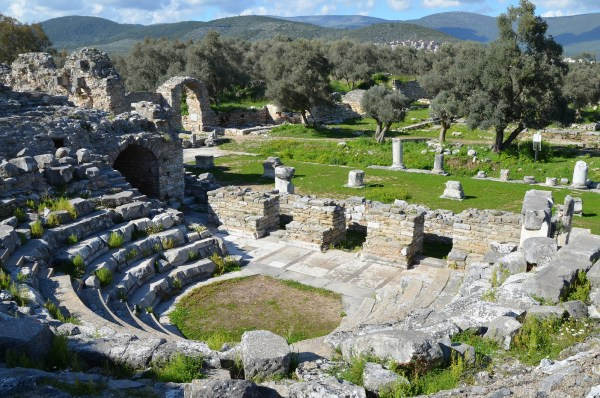 The Bouleuterion of Iassos, dated to around the end of the 1st century AD. its capacity has been estimated to 960 spectators.