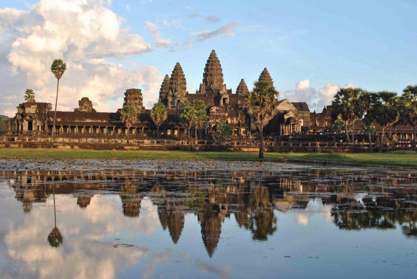 Angkor Wat reflected in surrounding pool. Photo © Annabel Venn