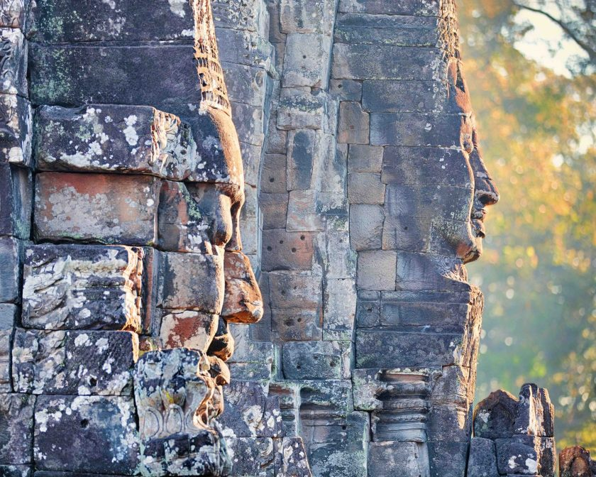 Colossal faces from Prasat Bayon.