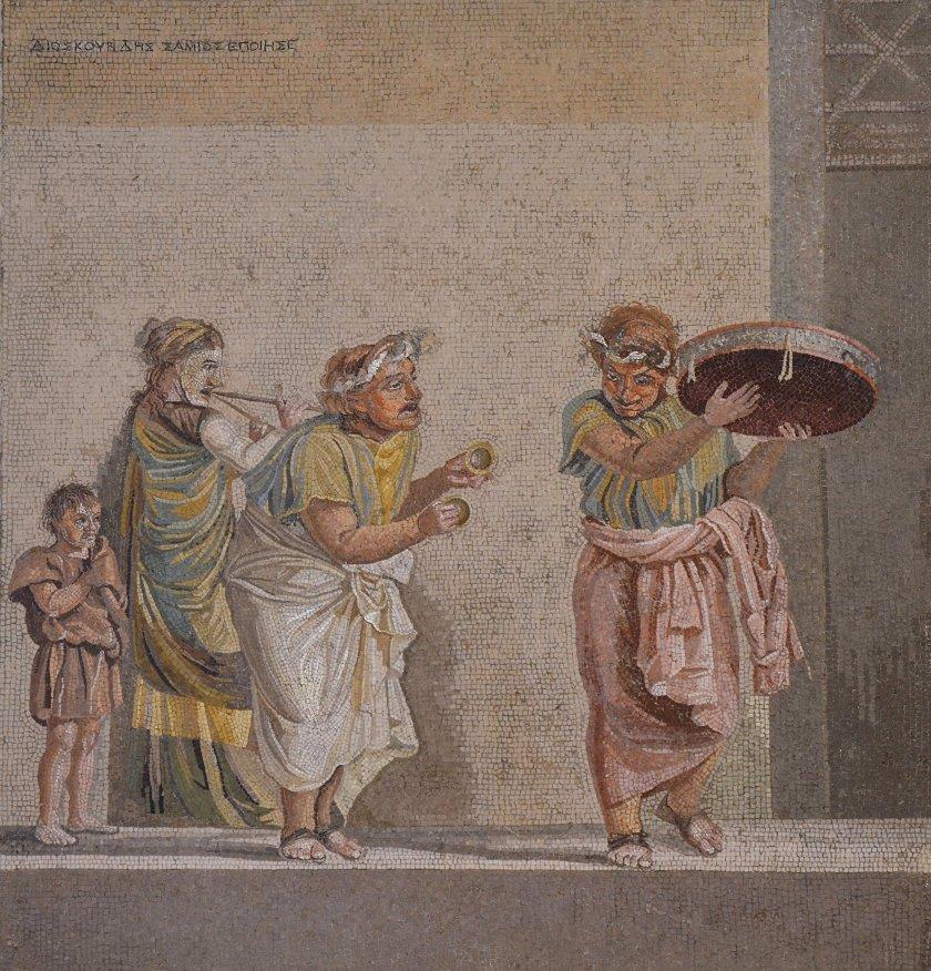 Mosaic depicting street musicians