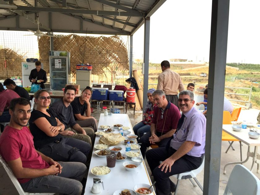 I and Mr. Kamal with some of the French team, having lunch at a traditional local Kurdish restaurant! Photo © Osama S. M. Amin.