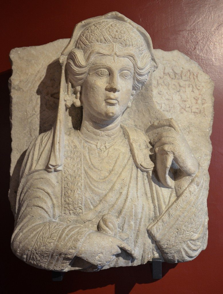 Funerary bust of a woman from Palmyra, Roman Imperial period, 3rd century AD Vatican Museums, Rome. Carole Raddato CC BY-SA